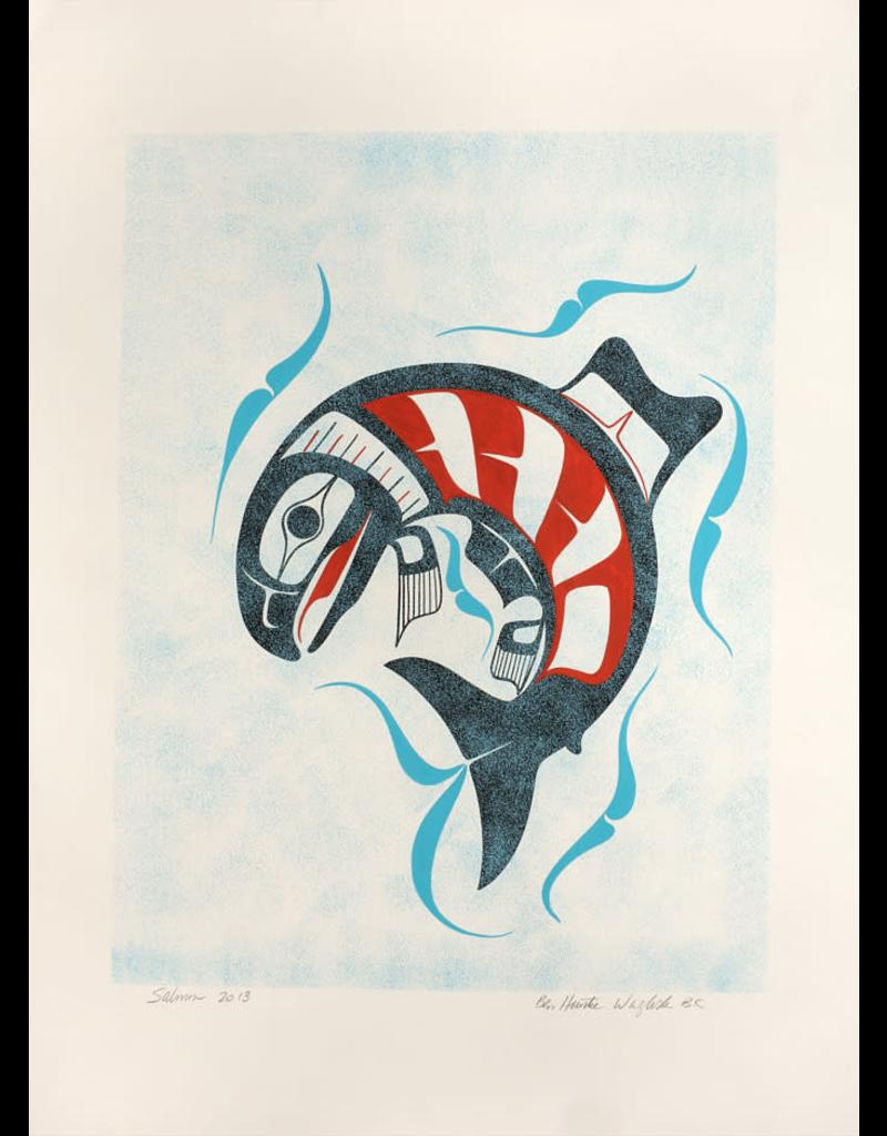 Houstie, Ben Spring Salmon (Underwater) Original Houstie