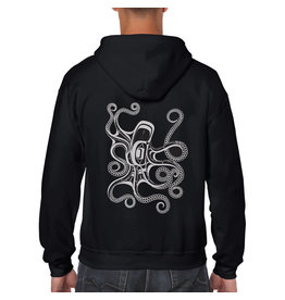 Native Northwest Hoodie Zippered - Octopus