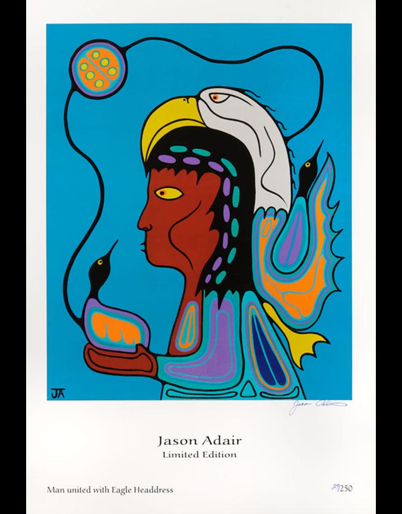 Adair, Jason Man United with Eagle Headdress