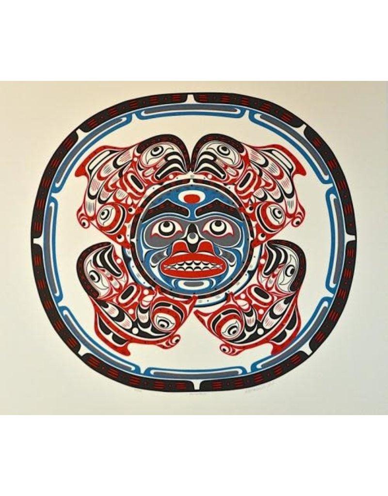 Hunt (Watawidi), Tom Salmon Moon Framed Print