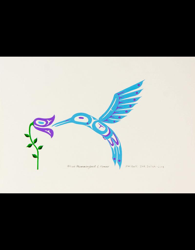 Bull, Pauline Blue Hummingbird & Flower