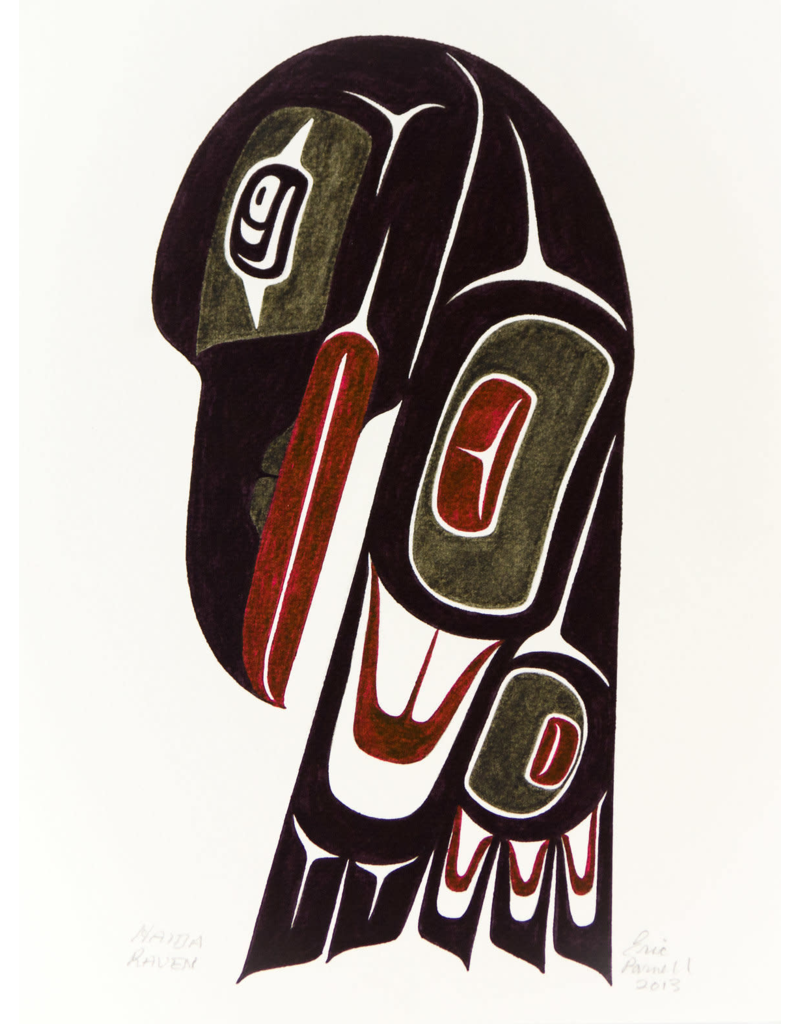 Parnell, Eric Haida Raven (Water Color) Original 2013