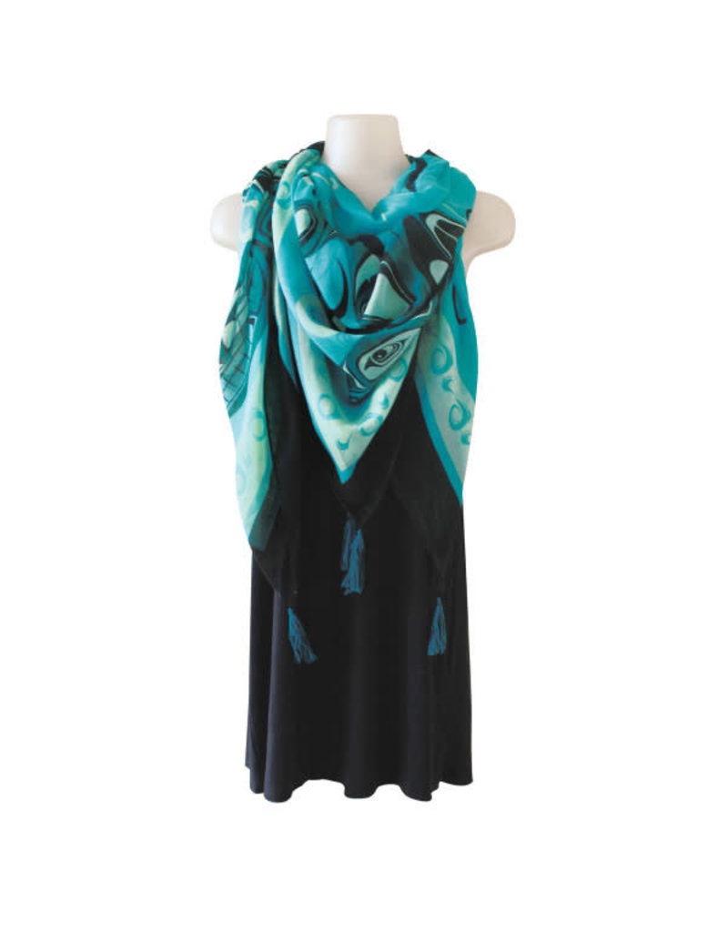 Native Northwest Tapestry Scarf - Orca