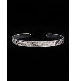 "Harper Victoria Hummingbird 1/4"" Silver Bracelet"