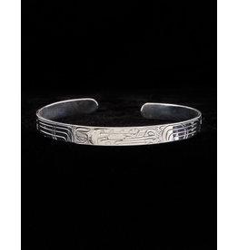 """Harper Victoria Wolf 1/4"""" Silver Bracelet"""