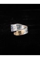 Harper Victoria Raven Bear Gold & Silver Wrap Ring