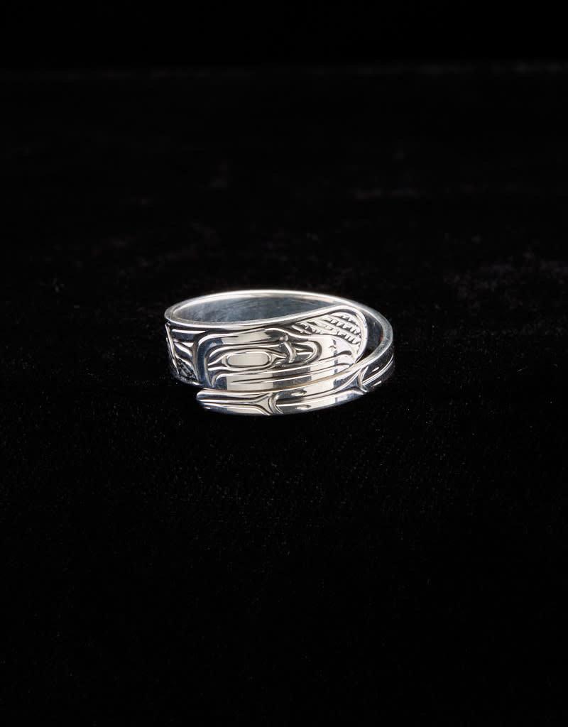 Harper Victoria Raven Wrap Silver Ring