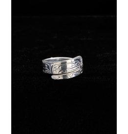 Harper Victoria Orca Silver Wrap Ring