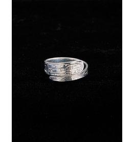 Harper Victoria Wolf Silver Wrap Ring