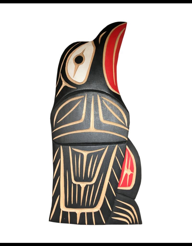 Neil Baker Raven Carving