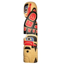 Krawchuck, Richard Eagle Chief Black & Red Carving