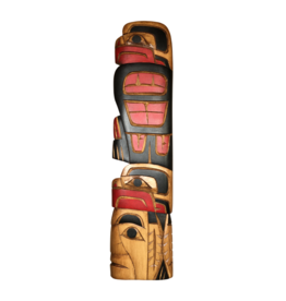 Krawchuck, Richard Eagle Chief Eagle Red & Black Carving