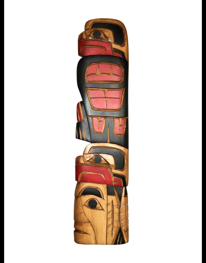 Krawchuck, Richard Eagle Chief Eagle Red & Black Carving