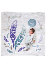Native Northwest Feather Baby Blanket