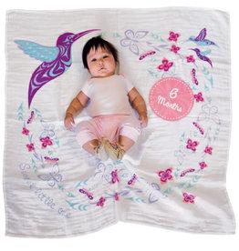 Native Northwest Hummingbird Baby Blanket