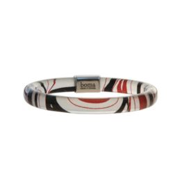 Robinson, Kelly Bangle With Pewter - Red/Black (Small)