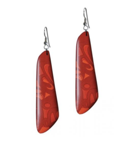 Panabo Sales Red Trapezoid Earring