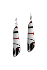 Robinson, Kelly Black/Red Trapezoid Earring