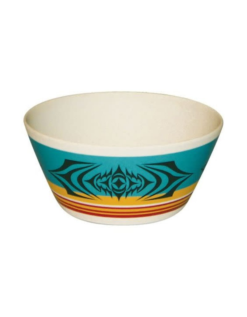 """Native Northwest Salish Sunset Bowl 5"""""""