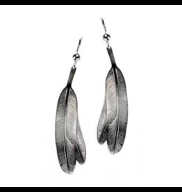 Helin, Bill Eagle Feather Earring Pewter