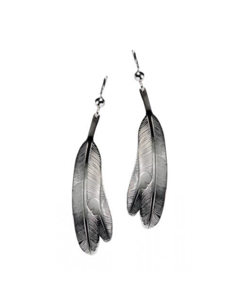 Helin, Bill Eagle Feather Earring Pewter