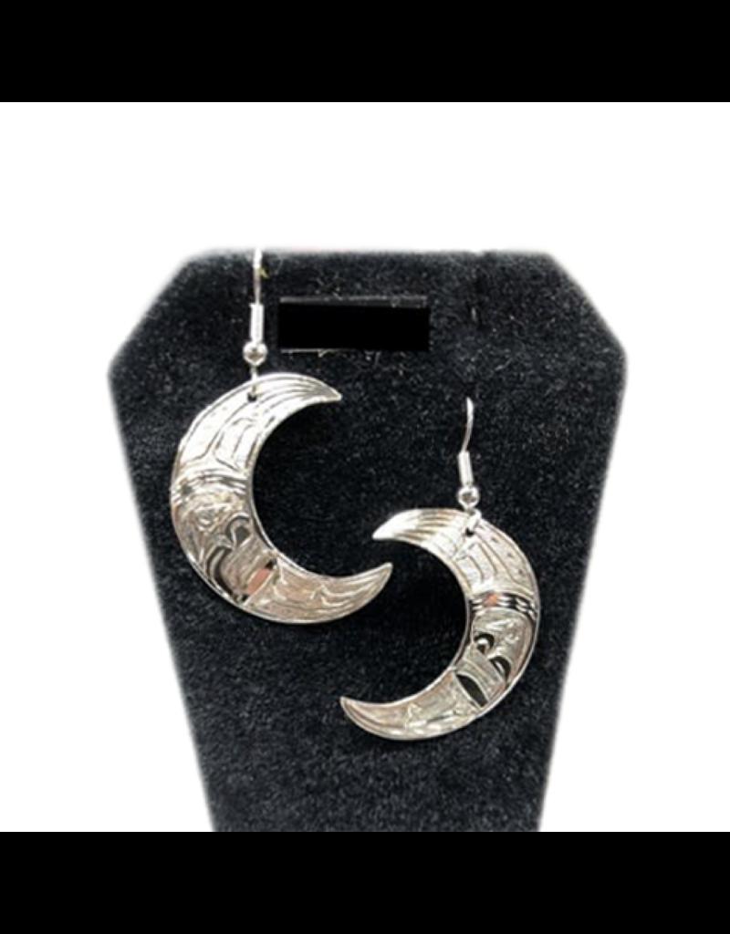 Nancy Dawson Moon Silver Earring