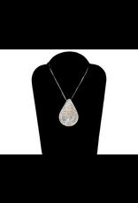 Harper Victoria Tear Drop Silver And Gold Pendant
