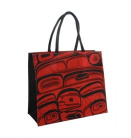 Panabo Sales Raven Jute Tote Red