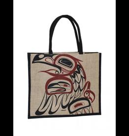 Helin, Bill Raven Jute Tote Bag Natural