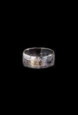 Harper Victoria Bear & Salmon Silver & Gold Ring