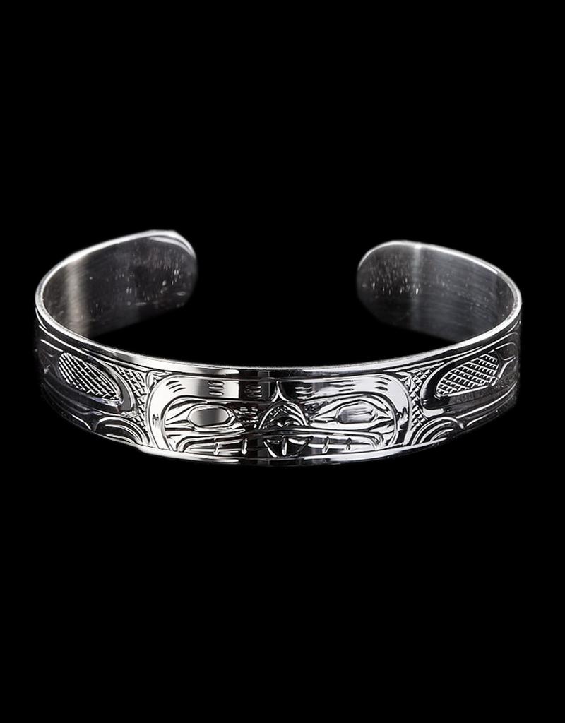 "Harper Victoria Beaver Silver Bracelet 1/2"""
