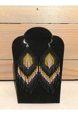 Skyla Morriseau Black & Purple Beaded Earring
