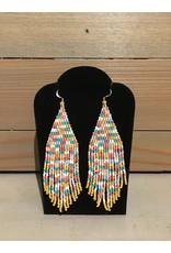 Skyla Morriseau Long Multi Colour Beaded Earring