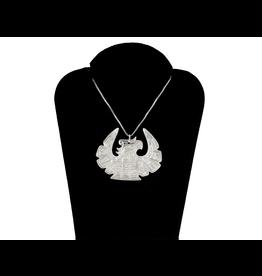 Nancy Dawson Thunderbird Silver Necklace