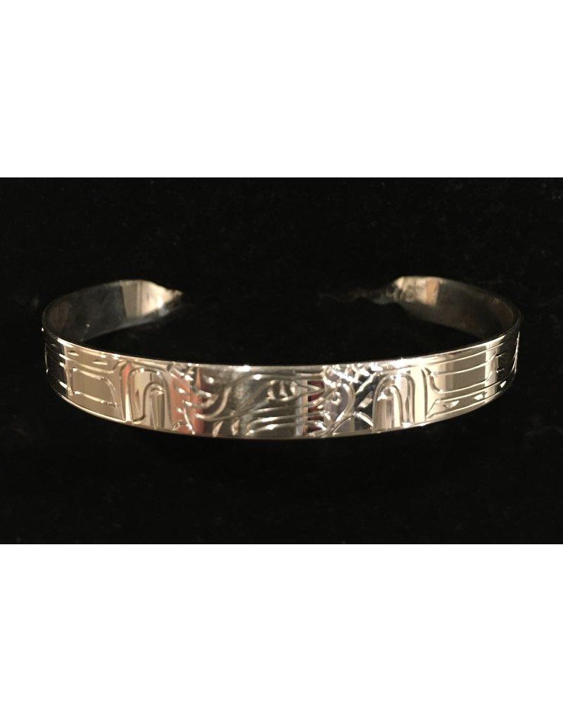 """Nancy Dawson Eagle 1/4"""" Silver Bracelet"""