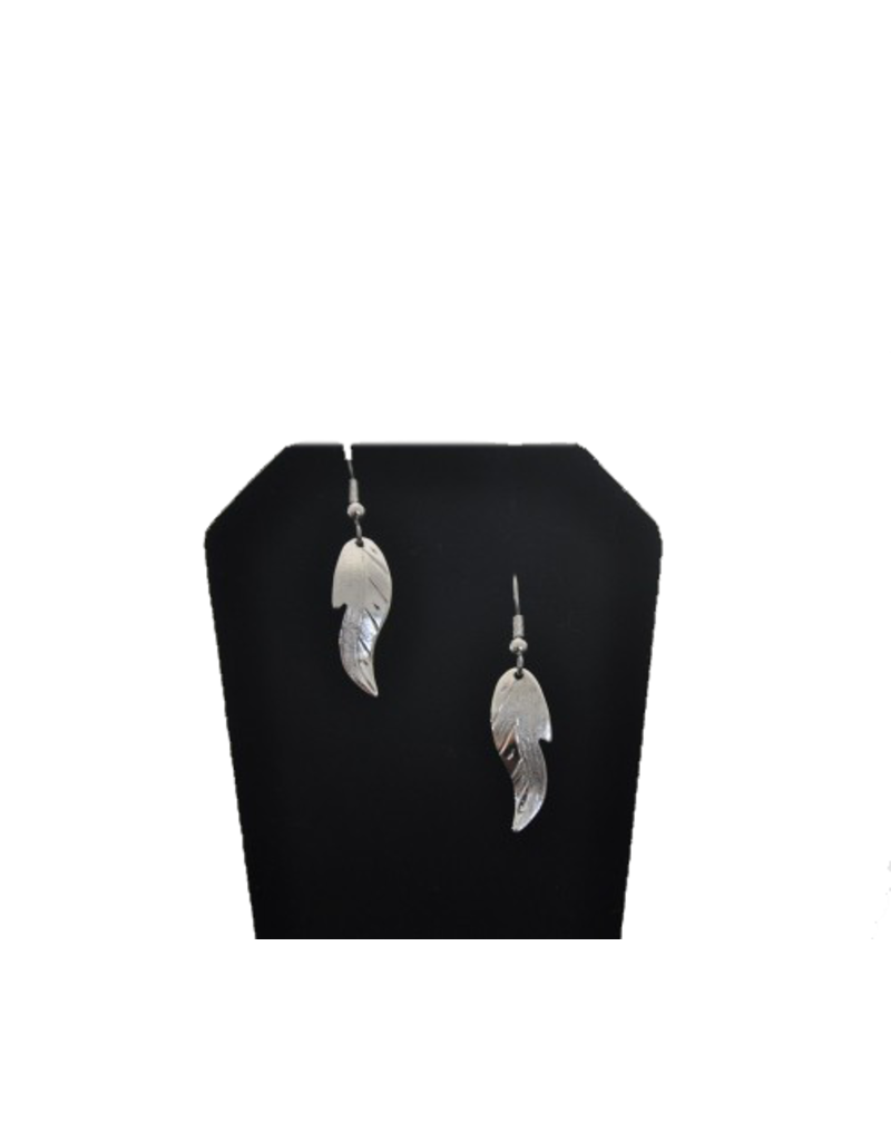 Vincent Henson Feather Silver Small Earring