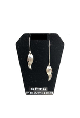 Vincent Henson Mini Feather Earring/Silver Chain