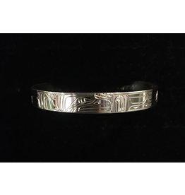 """Nancy Dawson Raven 1/4"""" Silver Bracelet"""
