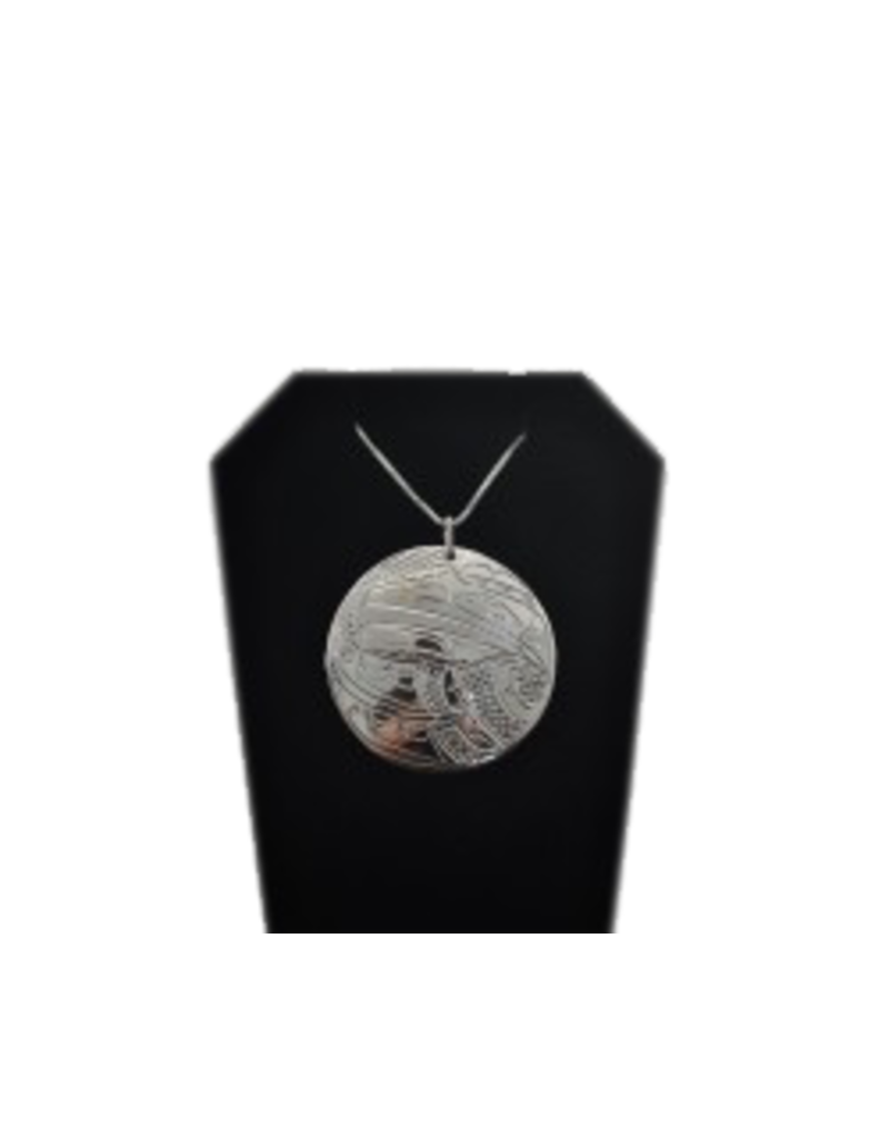 Chance Adrian Gesinghaus Round Eagle  Silver Necklace