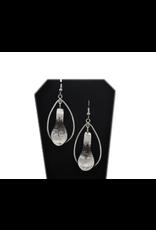 Chance Adrian Gesinghaus Spoon Oval Silver Eagle Earring
