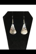 Vincent Henson Teardrop Wolf Silver Earring