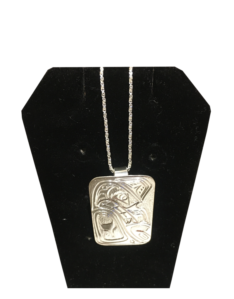 Chance Adrian Gesinghaus Wolf Silver Necklace