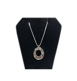 Vincent Henson Oval Eagle Silver Necklace