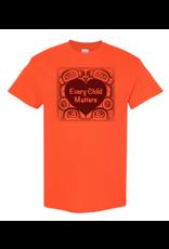 Native Northwest Orange T-Shirt/Heart