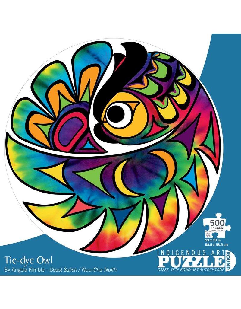 Canadian Art Prints Tie-Dye Owl Puzzel