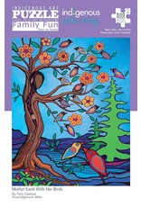 Canadian Art Prints Mother Earth With Her Birds Puzzle