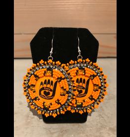 Evans, Amber Assorted Orange Beaded Earring