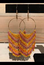 Skyla Morriseau Circle Hoop Beaded Earring