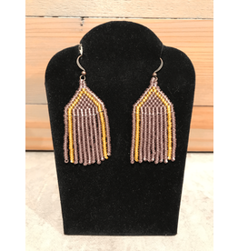 Skyla Morriseau Lavender And Gold Beaded Earring