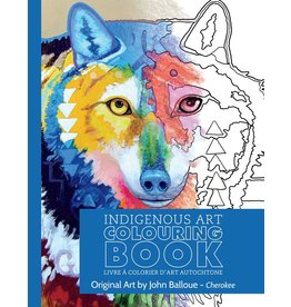 Canadian Art Prints Colouring Book Wolf